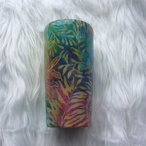 20oz Classic Tumbler - Leaves Multi Glitter