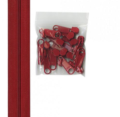 265 - Hot Red Handbag Zipper
