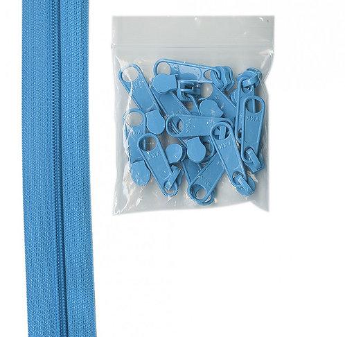 214 - Parrot Blue Handbag Zipper