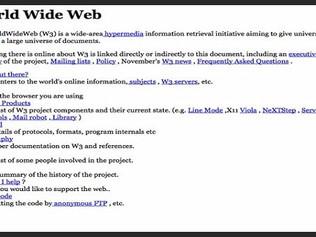 A 25 años de la primera página web