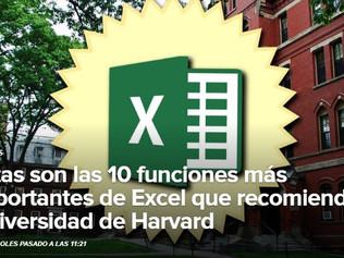Las 10 funciones más importantes de Excel según Harvard