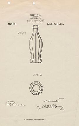 Coke bottle patent application