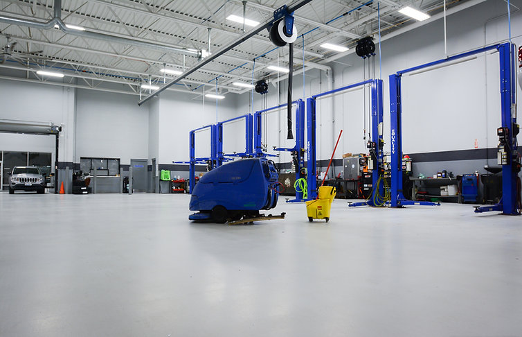dealership service area cleaning