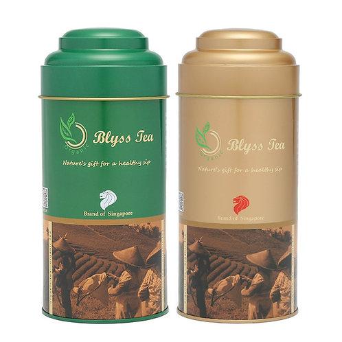 Any 2 types of tea 150g/tin