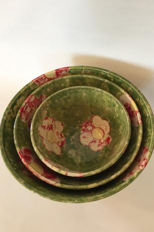 Dishtowel Batik Nesting Bowls