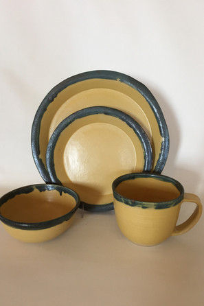 Canary in a Coal Mine 4-piece Place Setting