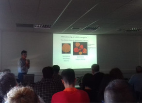 Dr Kaladidis presenting his work on plant RNA silencing