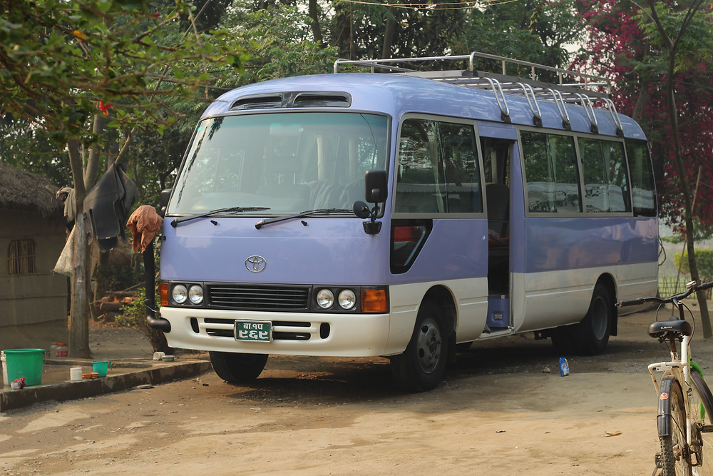 G Adventures tour bus, Nepal