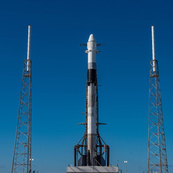 SpaceX CRS -18 rocket on the day of launch