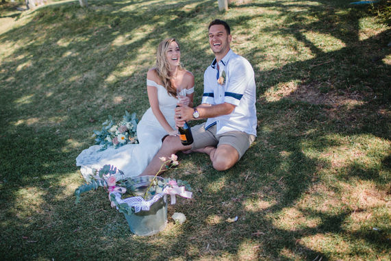 Relaxing after saying 'I Do' in Margaret River