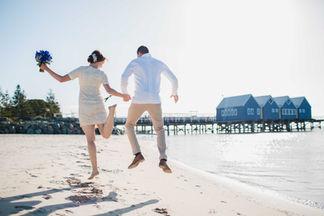 Just Married, Busselton Jettty, Margaret River Region