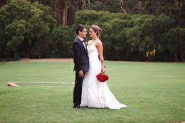 Elisa & Matt just married photos at Leeuwin Estate, Margaret River