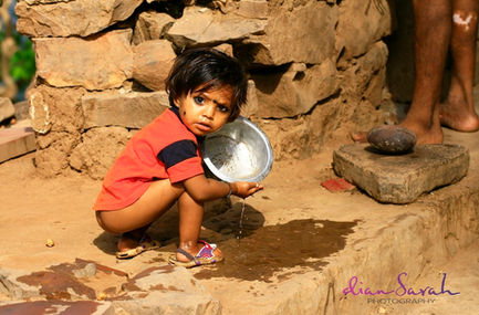 Child at play in India