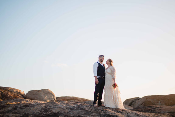 Sunset wedding photos at Redgate Beach, Margaret River with Dian Sarah Photography in Margaret River