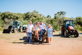 Family on the farm in Dunsborough by photographer Dian Sarah