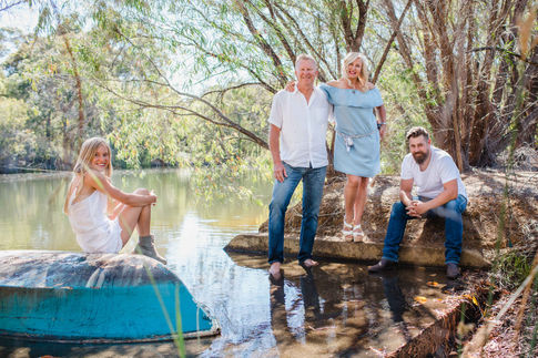 Family portrait photography near Yallingup, Margaret River region