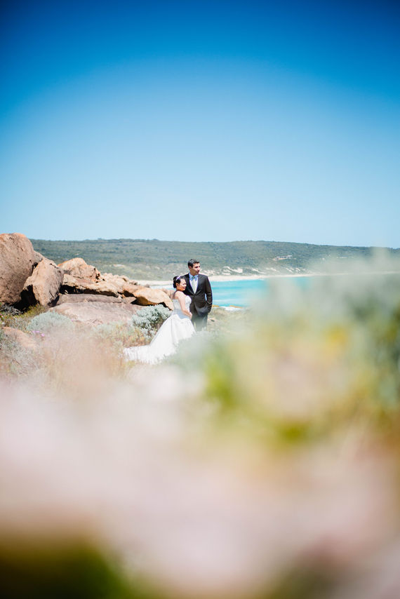 Engagement photo sesson for this couple on the beach in the Yallingup Dunsborough area
