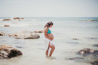Beach maternity photography in Margaret River