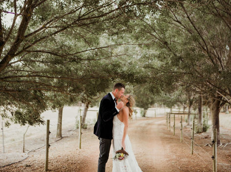 Country style wedding photos in Margaret River