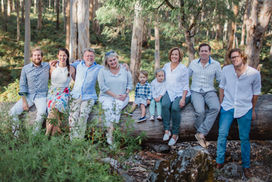 Family group photography in Margaret River forest