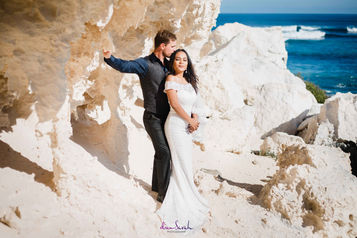 Redgate Beach wedding photo by Dian Sarah Photography
