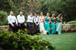Bridesmaids & Groomsmen at Leeuwin Estate photoshoot in Margaret River