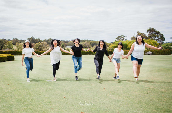 Singapore group photography in Margaret River