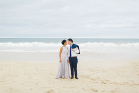Engagement photography at Bunker Bay, Margaret River region - beautiful beach