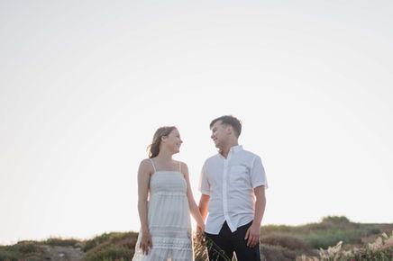 Beautiful couple at sunset