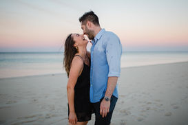 Sunset couple photography in Margaret River