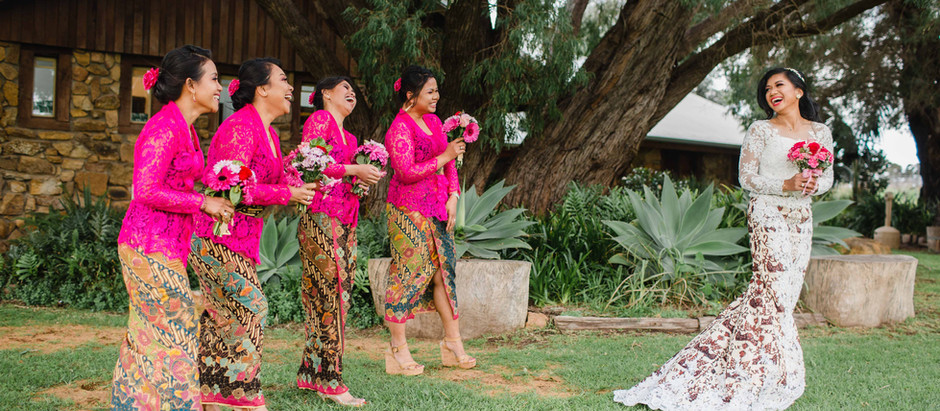 Indonesia and Margaret River Wedding fusion
