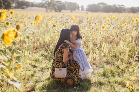 Mum and daughter snapped in this portrait near Margaret River