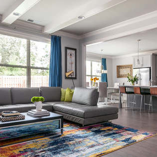 Contemporary and Collected. Living room