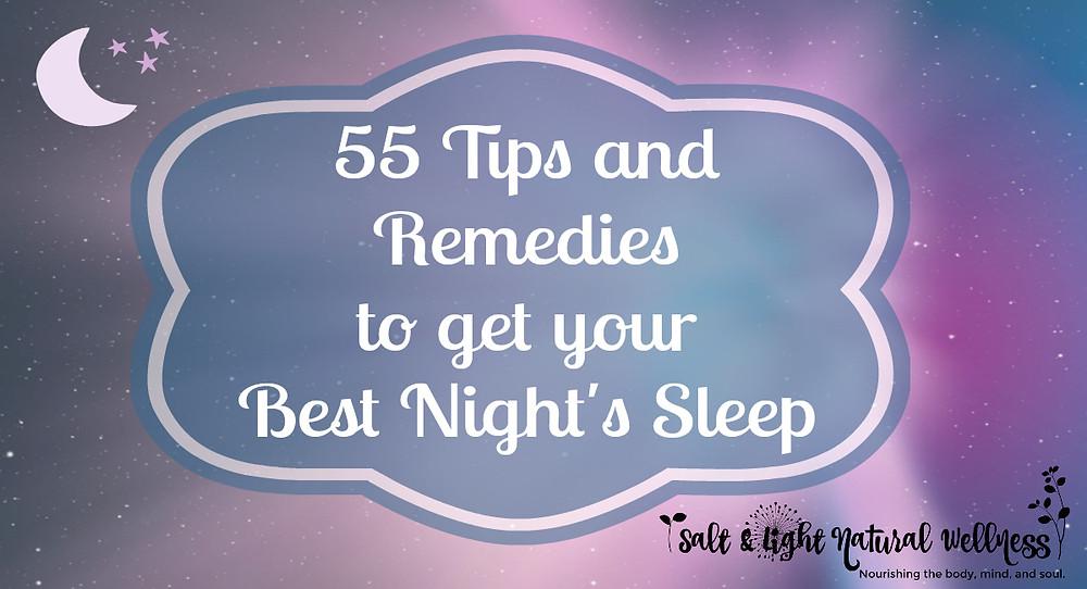 Natural Remedies to Get Your Best Night's Sleep | Salt & Light Natural Wellness
