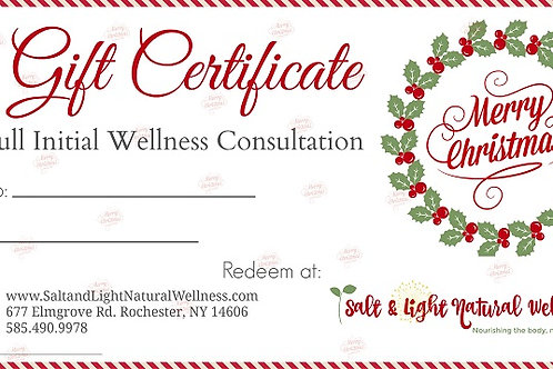 Full Wellness Consultation Christmas Gift Certificate