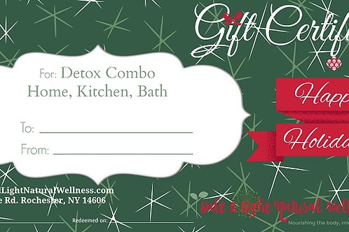 Detox Combo Holiday Gift Certificate