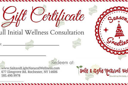 Full Wellness Consultation Holiday Gift Certificate