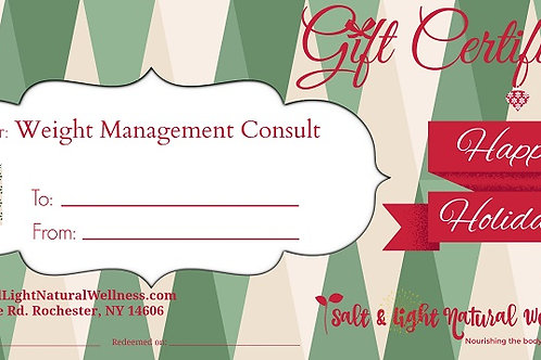 Weight Management Holiday Gift Certificate