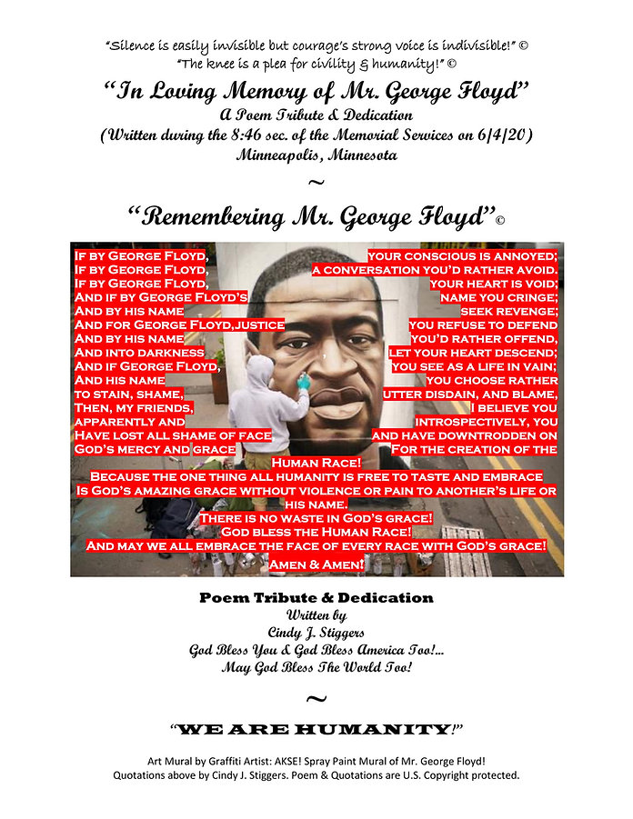 POEM TRIBUTE FOR MR. GEORGE FLOYD @USApr