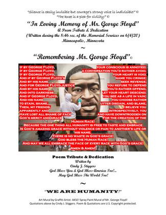 POEM TRIBUTE FOR GEORGE FLOYD @USAprayto