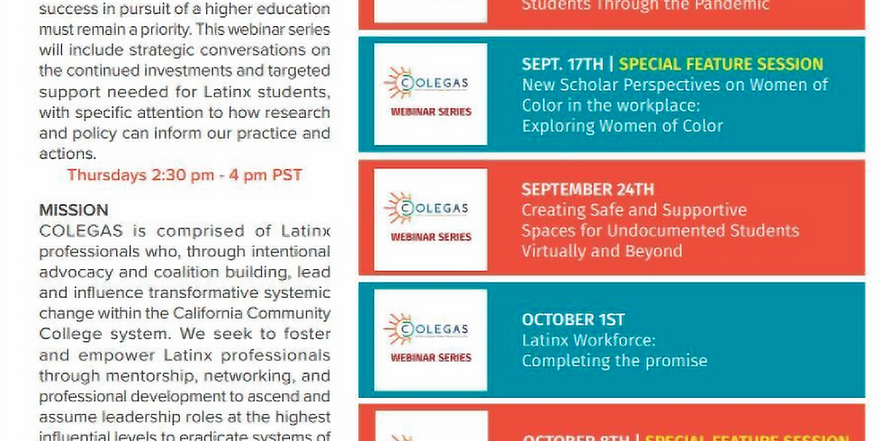 COLEGAS - Adelante! Learning fro Latinx Student Leaders the Way Forward