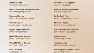 Statewide Academic and Leadership Award 2021 Recipients
