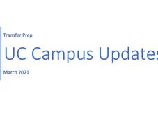 Transfer Prep | UC Campus Updates