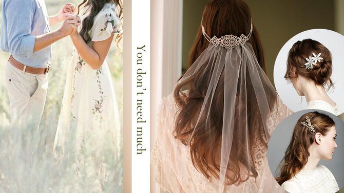 小資女自拍Pre-Wedding簡易髮型DIY配必敗提升氣質髮飾