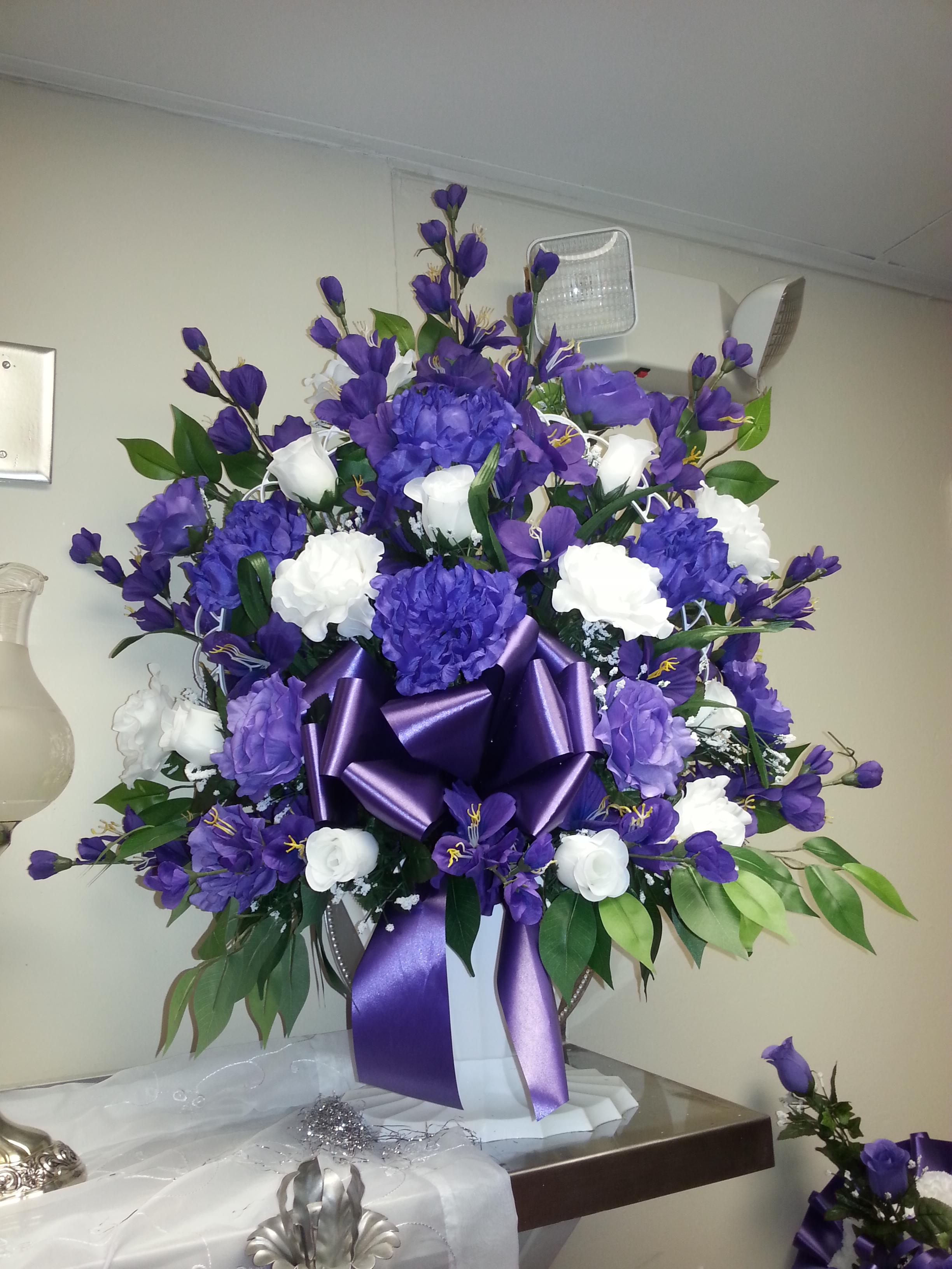 Silk Purple Basket
