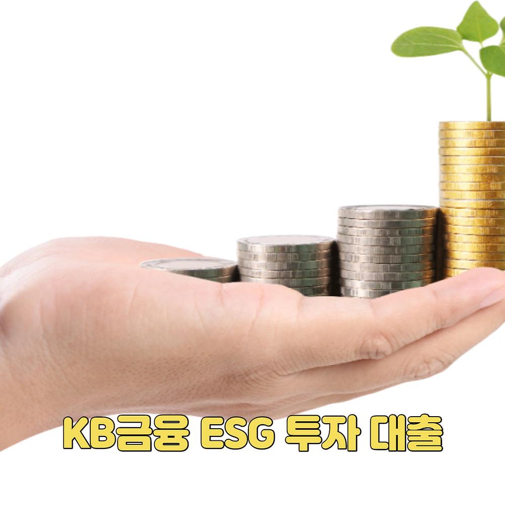 KB금융 ESG 투자 대출