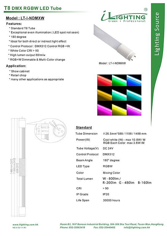 V-32-1-1R1 DMX RGBW T8 LED tube 21.11.20