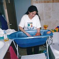 אמבטיה לתינוק, טמפרטורת המים באמבטיה