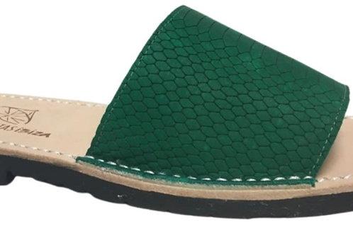29003 - Chinelo Chiringuitas Nobuck Serpiente Verde