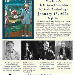 Delirium Corridor Zoom Reading January 13, 6 p.m.!